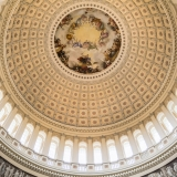 The interior of the dome of the Capitol
