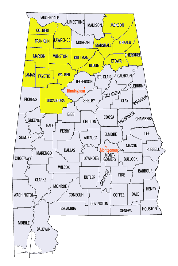 4th District Counties | Congressman Robert Aderholt